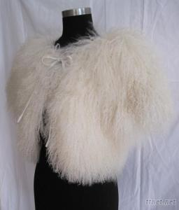 Off-White Tibet Sheep Fur Coat Top