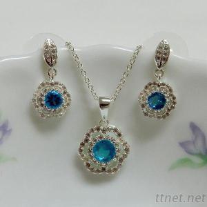 Flower Fashion Jewelry Set
