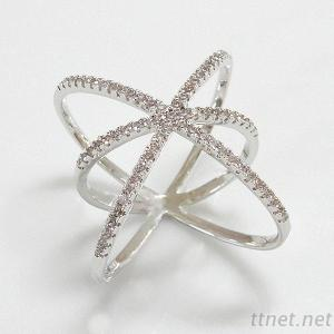 Clear Cubic Zirconia Fashion Ring