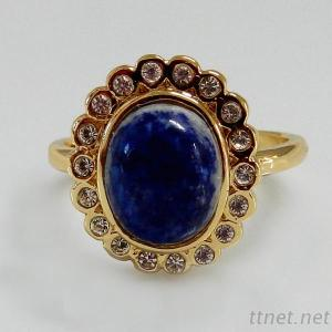 Oval Lapis Fashion Jewellery Ring