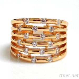 6 Row CZ Ring