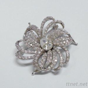 Flower Bridal Brooch
