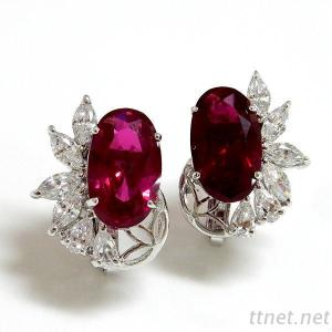 Ruby Wedding Earrings