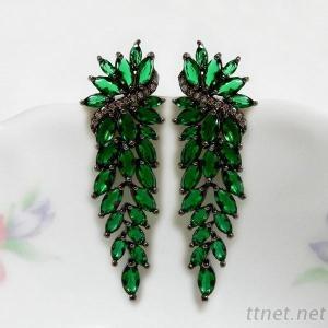 Wedding Bridal Cluster Earrings