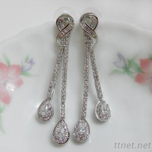 Clear CZ Wedding Earrings