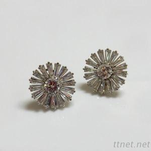 Sparkling CZ Bridal Earrings