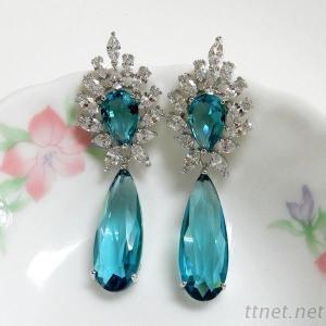 Wedding Bridal Teardrop Dangle Earrings