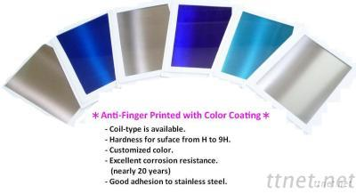 Stainless Steel, Anti-Fingerprint Coating With Color