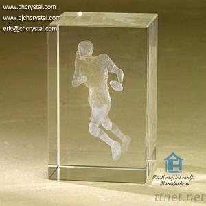 Crystal Cube With 3D Logo