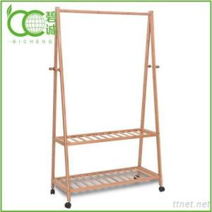 Living Room Furniture Eco-Friendly Bamboo Wooden Coat Rack Stand