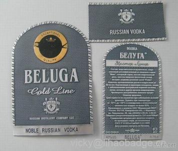 Wine Labels Vodka Labels