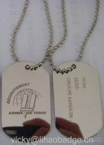Stainless Steel Dog Tag Military Tag