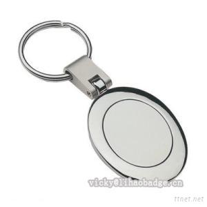 Oval promotional Metal Key Ring