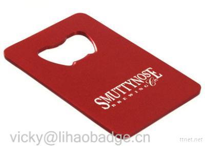 Plastic Bottle Opener Shaped Card