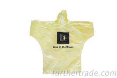 R-1095 Yellow Pe Disposable Rain Lightweight Waterproof Jacket