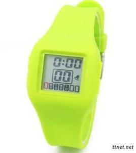 Silicone Sport Digital Waterproof Watch