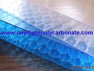 Polycarbonate Honeycomb Sheet, Alveolate Polycarbonate Sheet