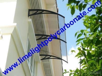 Polycarbonate DIY Awning, Door Roof Canopy, DIY Awning