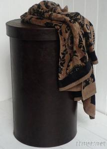 Round Faux Leather Laundry Baskets, laundry holders