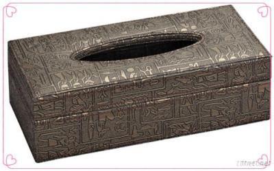Graecism Faux Leather Tissue Box