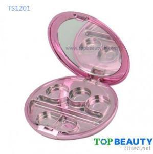 Round 3 Well Eye Shadow Compact Case With Applicator Well And Mirror