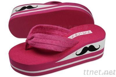 Women Sandal Platform Shoes Flip Flops Open Toe Beach Wedges