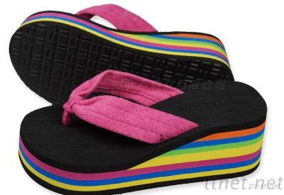 RAINBOW Women Wedges Sandal Platform Shoes Flip Flops Open Toe Beach