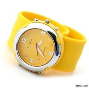 Jelly Silicone Slap Watches Dial Move