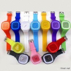 Fashion Jelly Square Silicone Sport Watch