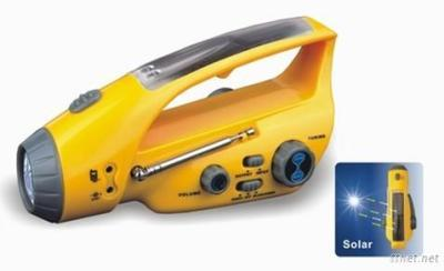 Solar Dynamo Torch With FM Radio Charger