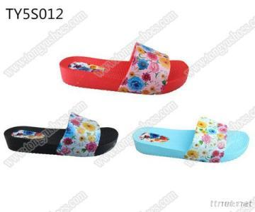 Fashion Printing Upper Ladies Slides Sandals, Charming Ladies Fancy Beach Walking Sandals, Cheap Wholesale Trends Ladies Wedge Sandals