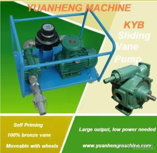 Self Priming Rotary Vane Oil Pump