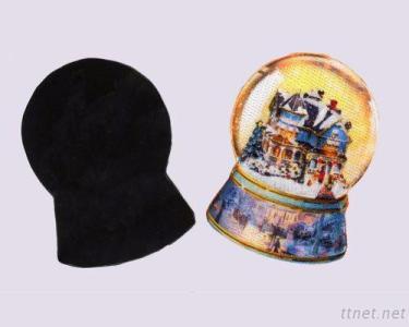 Snow Globe Embroidery & Sublimation Magnet, Fridge Magnet