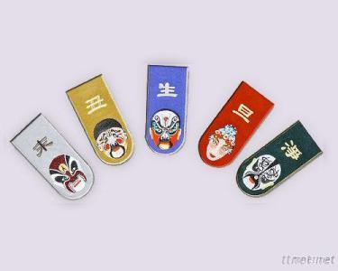 Magnetic Bookmark, Embrodiery - Chinese Opera Serials