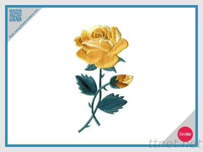 Embroidered Patch - Yellow Rose