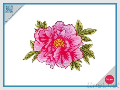 Embroidery Flower Patch - Peony