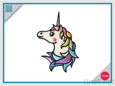 Stick On Unicorn Embroidered Patch