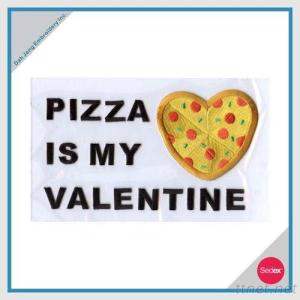 Embroidery Iron-On Set- PIZZA IS MY VALENTINE
