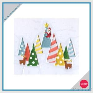 Iron-On Embroidery Sticker Set - Merry Christmas