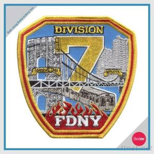 FIRE EMBROIDERY PATCH - DIVISION FDNY
