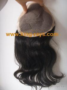 Remy Virgin Hair Replacement Hair Piece Hair Closure Top Piece