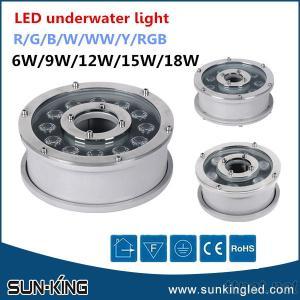 Round Led Underwater Lamp 12V/24V, Ip68 Underwater Led Pond Light 6W/9W/12W/18W