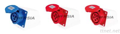 Economic Industrial Socket For Surface Mounting IP44, 3P 4P 5P 16A 32A 63A 125A