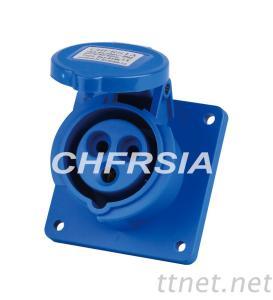 economic industrial socket(straight) panel mounting 3P 4P 5P IP44