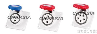 economic industrial socket(angle) panel mounting 3P 4P 5P IP44