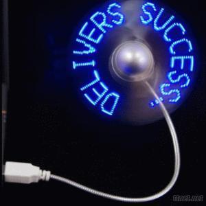 LED Flashing Message Fan, LED Mini Fan, LED USB Fan