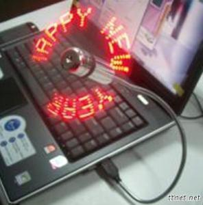 LED USB Mini Fan Showing Temperature And Message