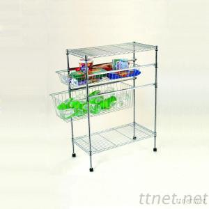 Wire Shelf Trolley, Wire Trolley.Iron Trolley