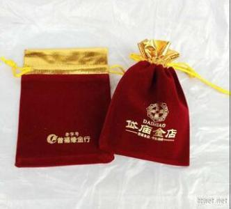 Red Velvet Bags For Jewelry And Christmas Gift