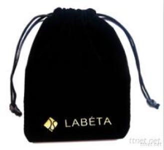 Black Velvet Bags , Small Jewelry Velvet Bags With Special Design